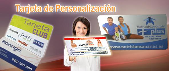 tarjeta de personalizacion