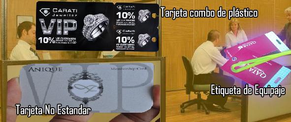 tarjetas combo de plastico