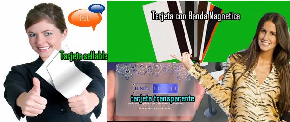 tarjeta con banda magnetica