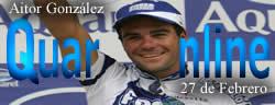 El 27 de Febrero 1975 nace Aitor González, ciclista español.