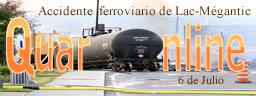 6 de Julio de 2013 en el sur de Canadá ocurre el accidente ferroviario de Lac-Mégantic: al menos 50 personas mueren (20 confirmadas, 30 desaparecidas) cuando un tren cargado de petróleo explota en el centro de esta localidad.